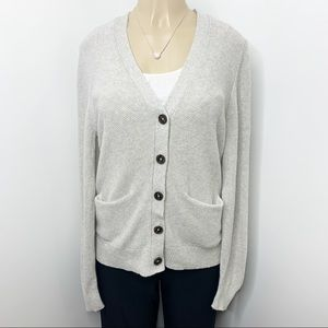 MADEWELL Textured Cardigan Button Front Medium